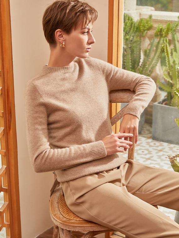 VIVAIA-Sustainable-Knitwear-CamelBrown