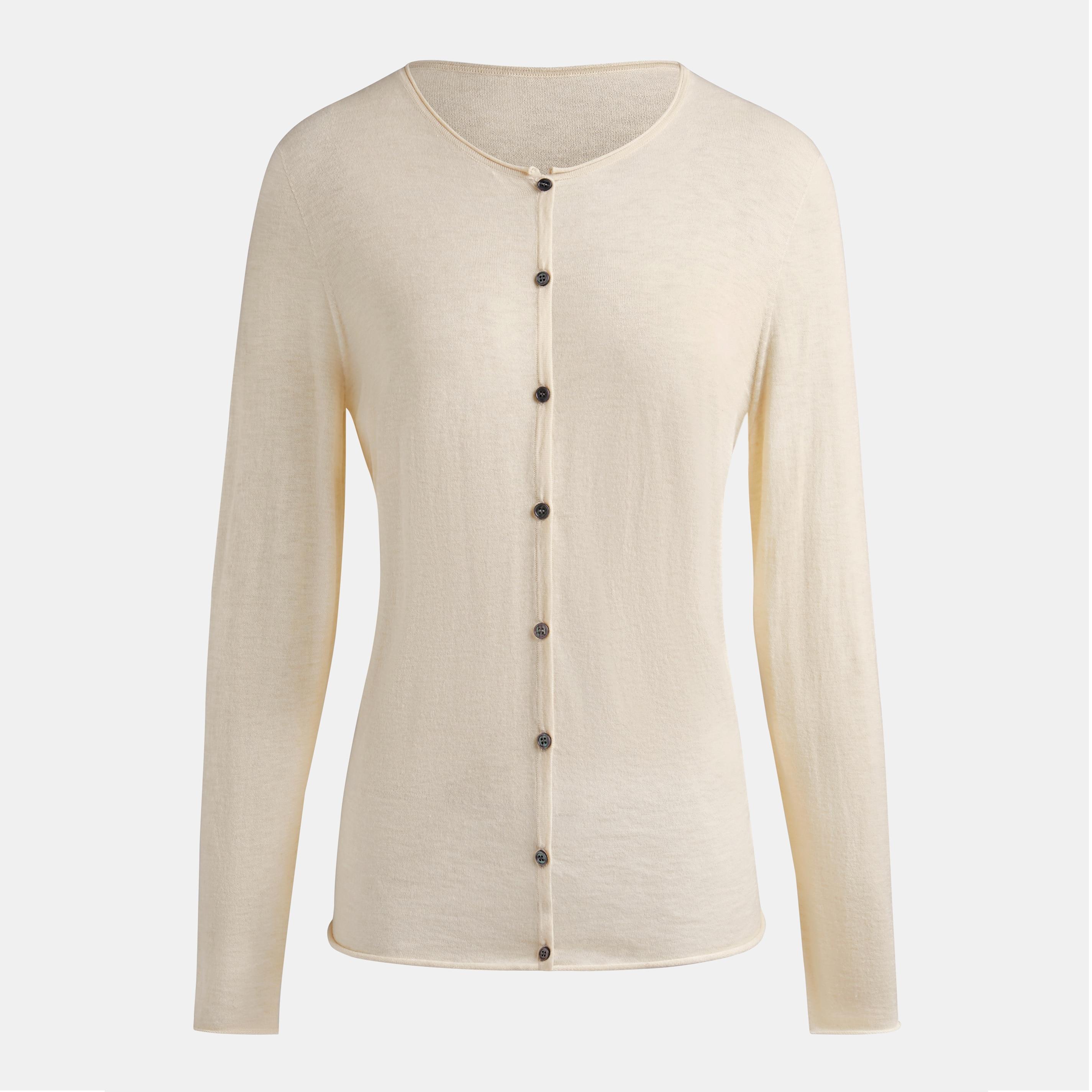 Cashmere Cardigan-Cream Ivory - Cream Ivory S