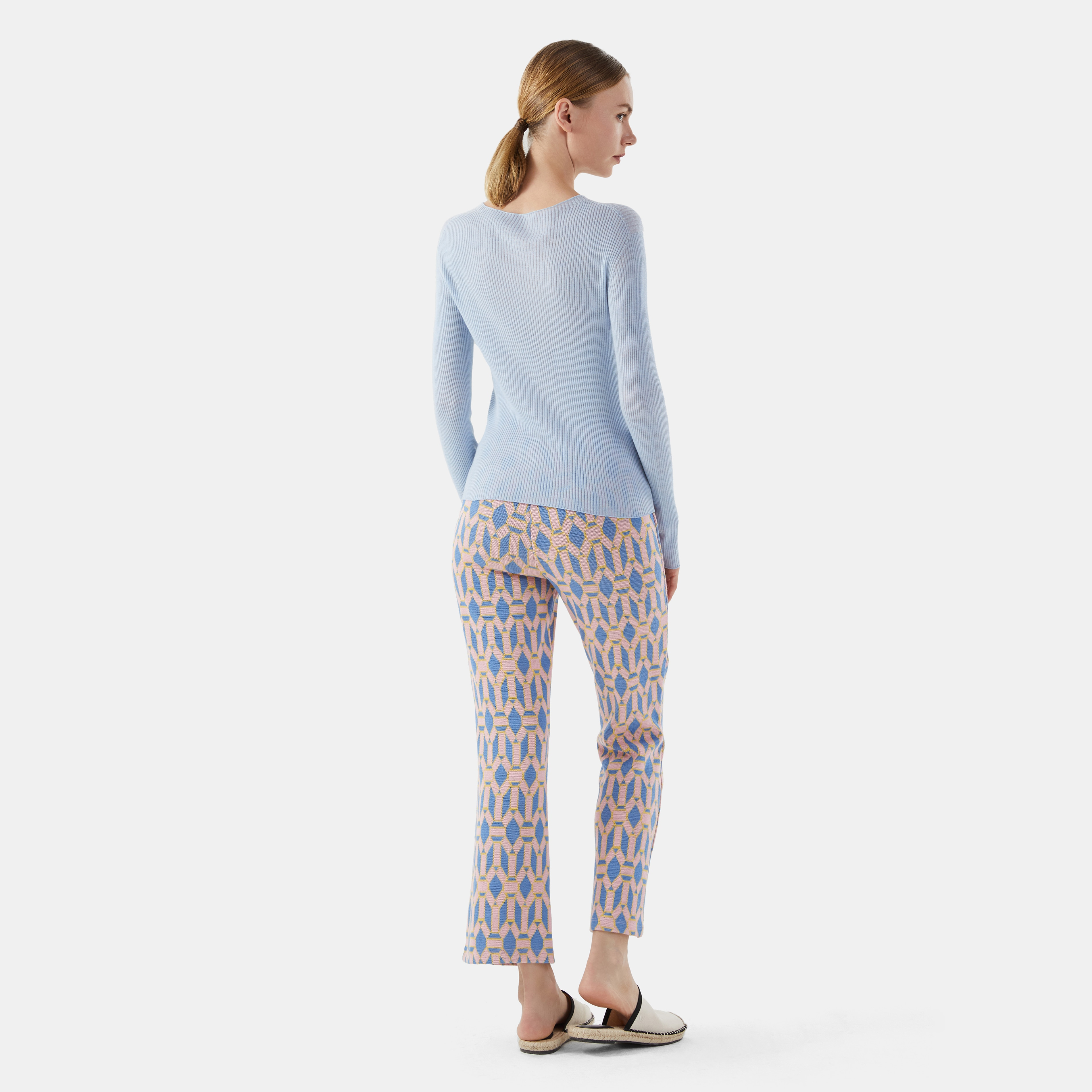 Cashmere Top-Baby Blue - Baby Blue S