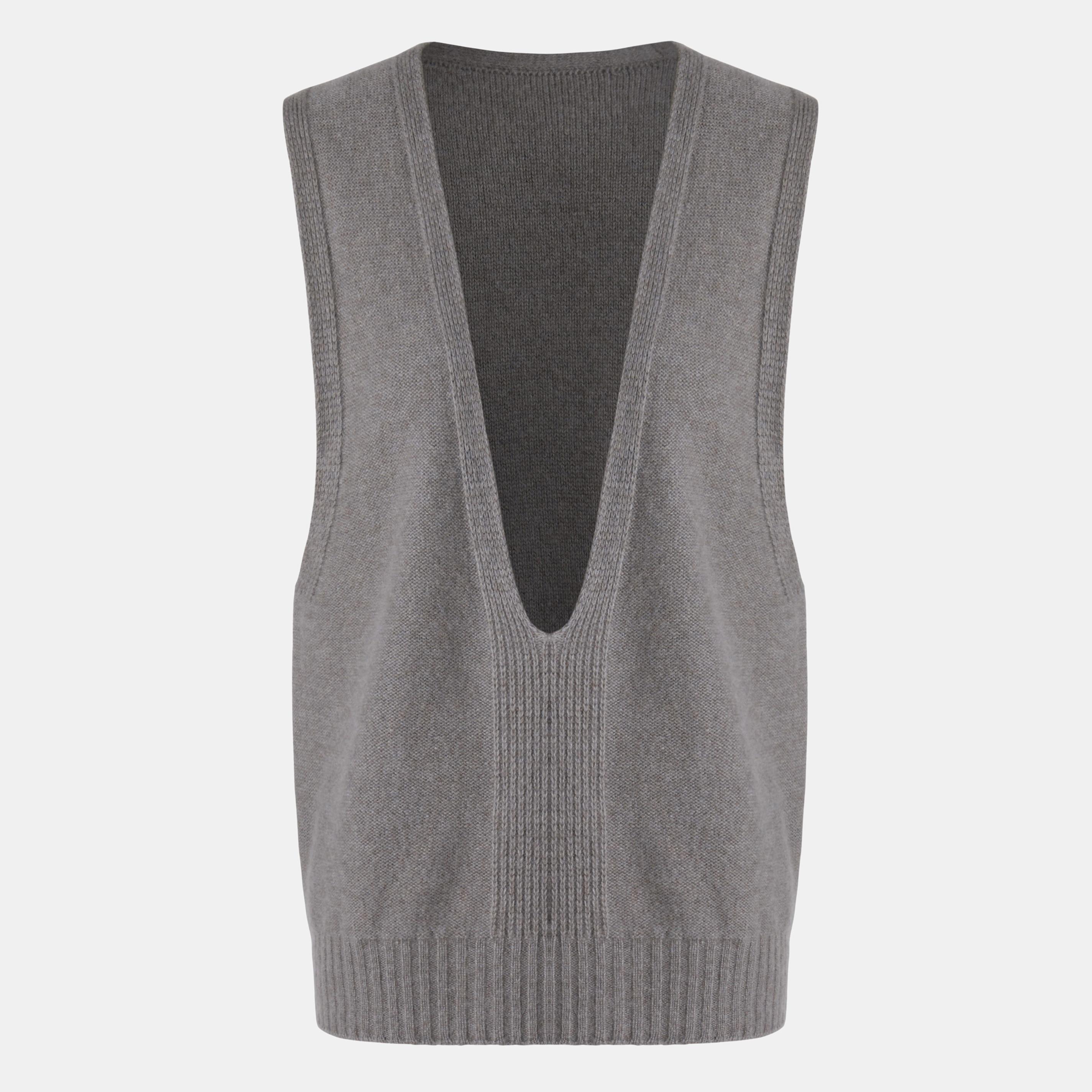 Cashmere Vest-Oat Grey - Oat Grey L