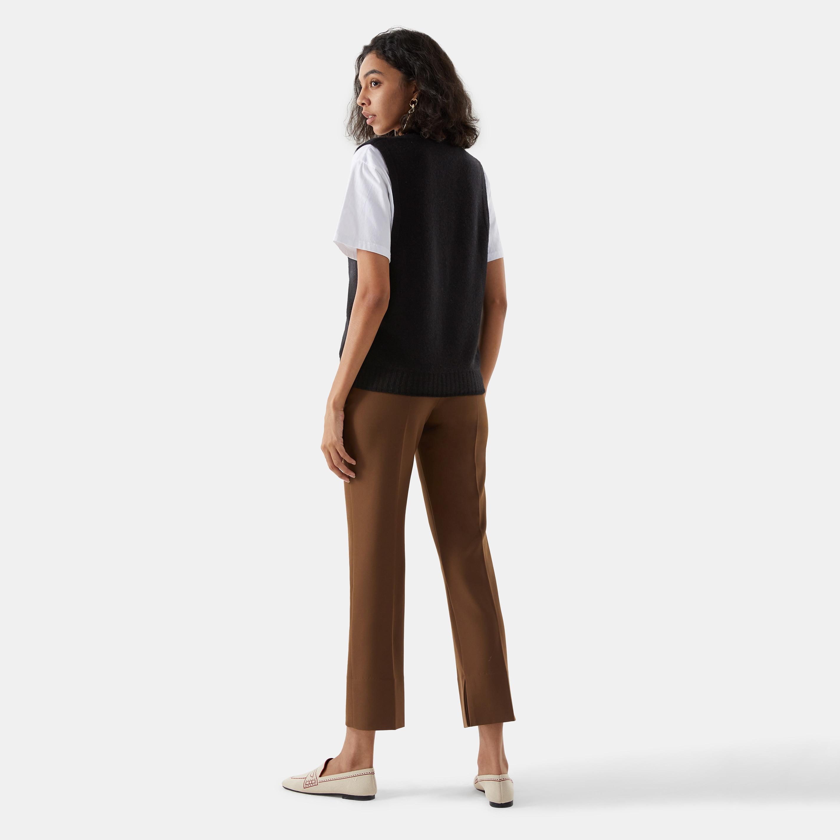 Cashmere Vest-Solid Black - Solid Black S