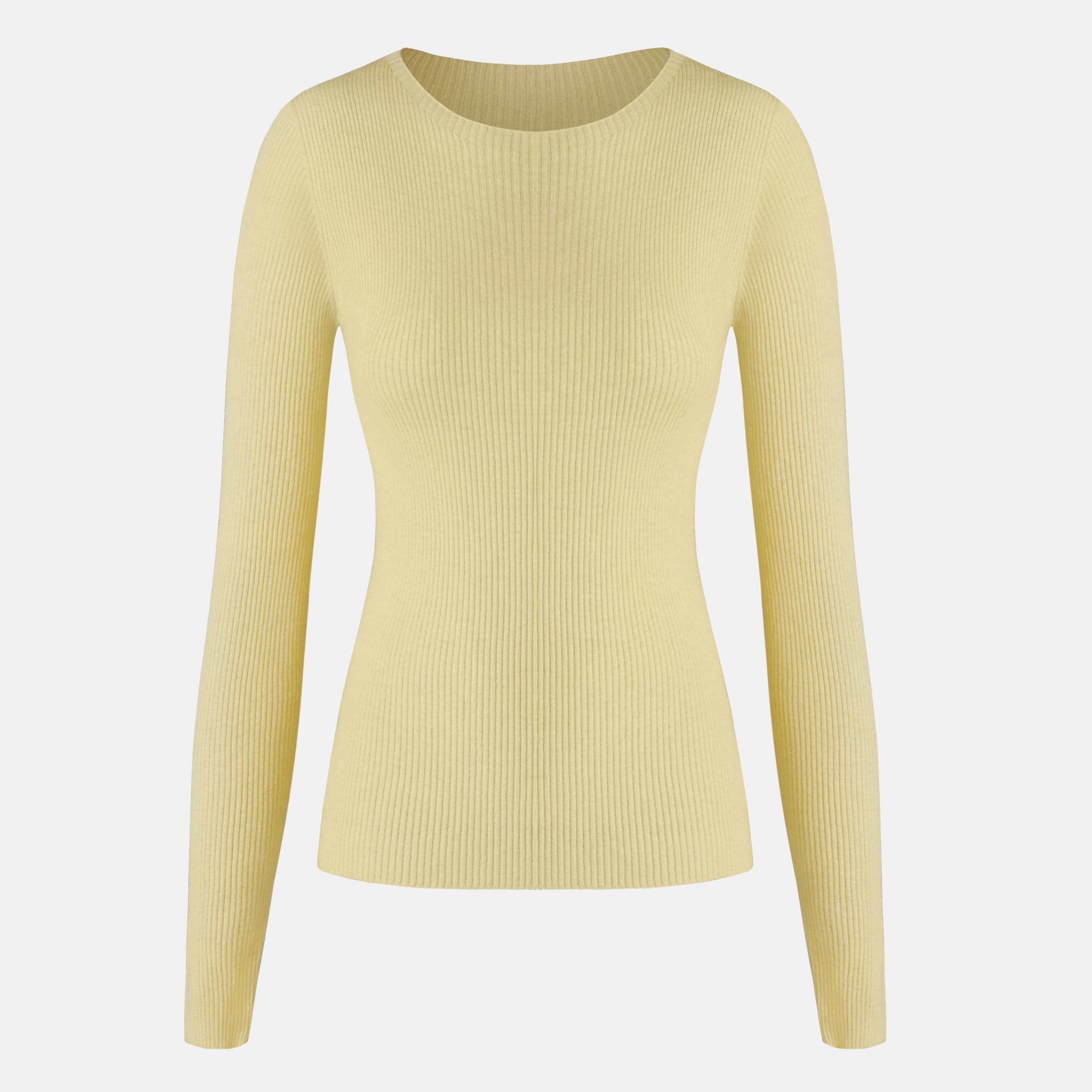 Cashmere Top-Lemon Yellow - Lemon Yellow S