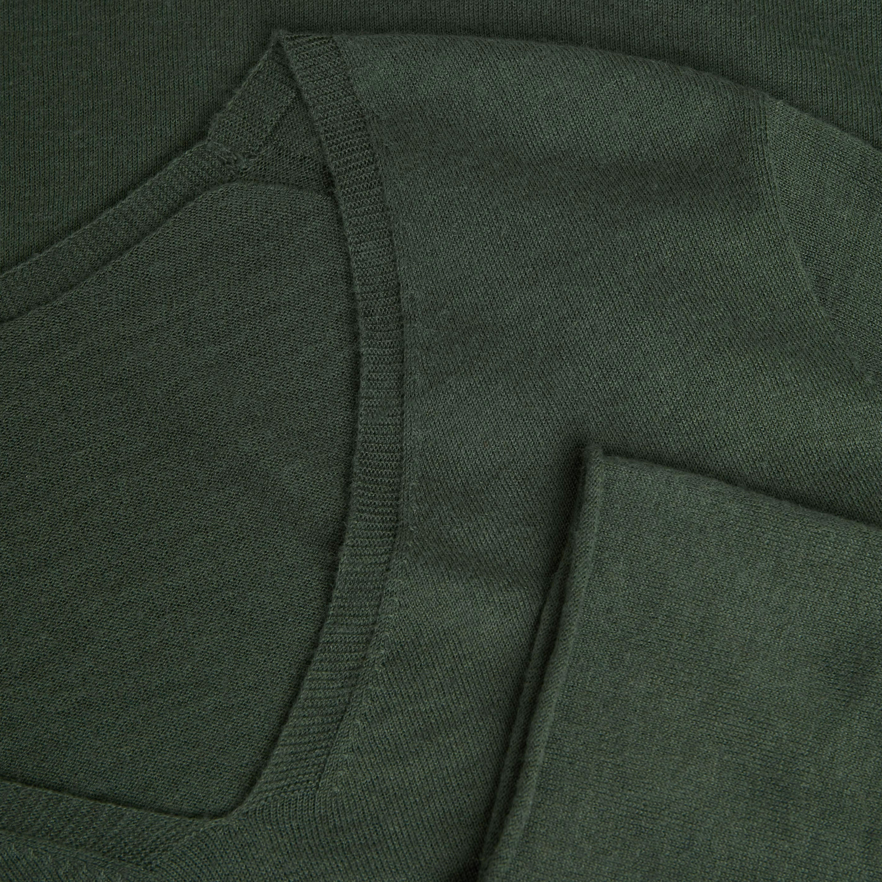 Cashmere V-neck Top-Grey Green - Grey Green S